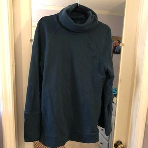 Teal Lululemon sweatshirt. Kangaroo pocket
